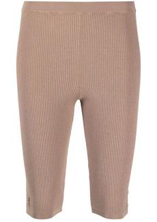 Saint Laurent logo-plaque knee-length shorts