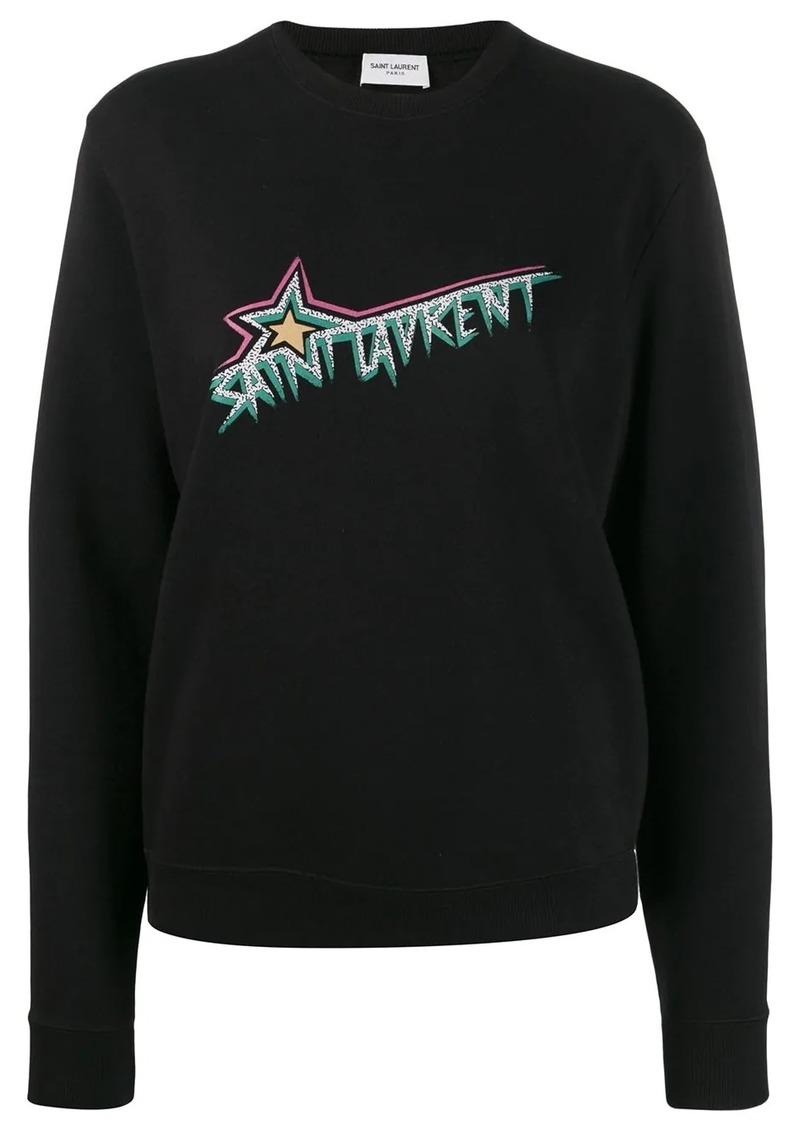 Saint Laurent Logo print sweatshirt