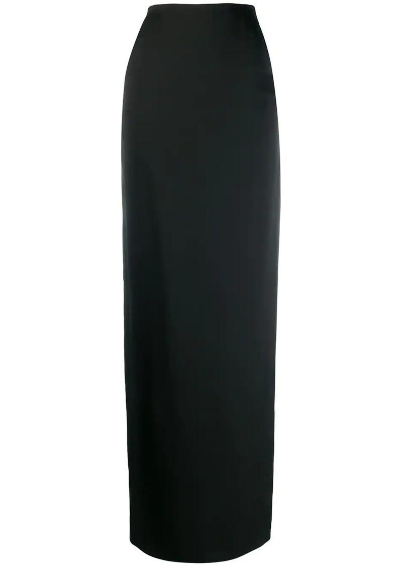 Saint Laurent long fitted straight skirt