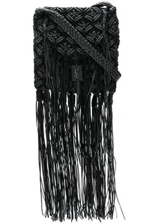 Saint Laurent long fringe satchel bag
