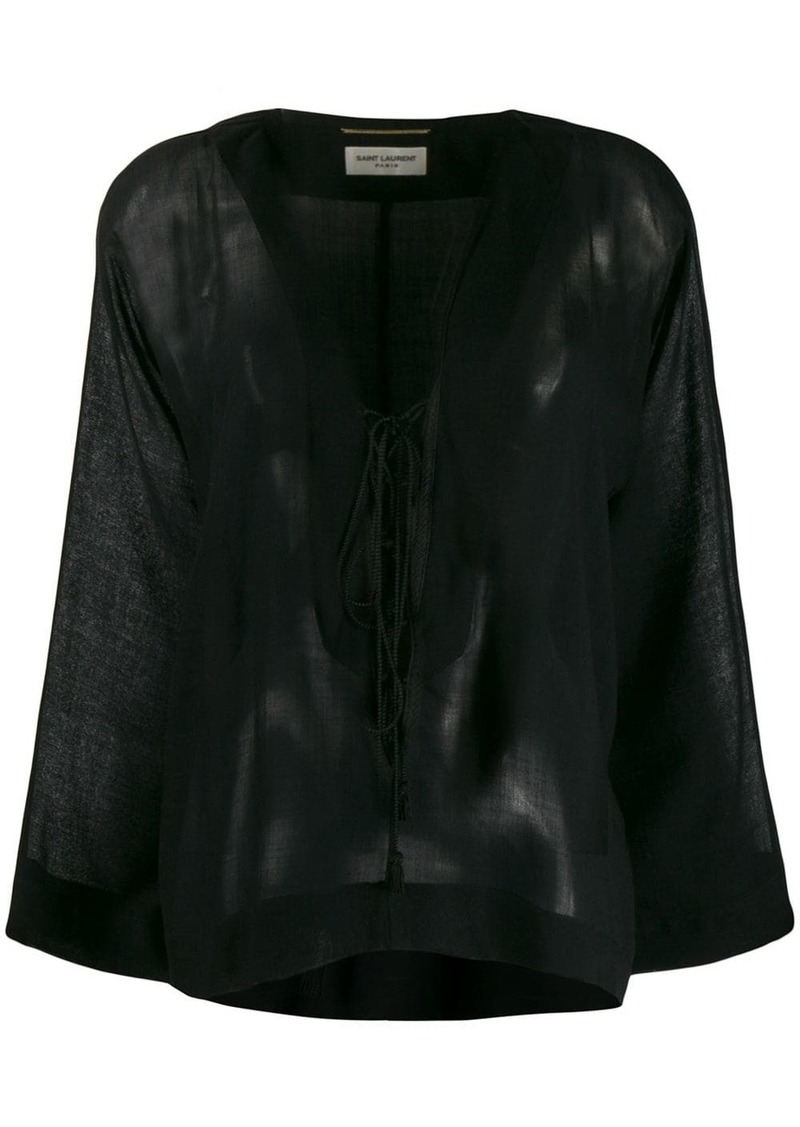 Saint Laurent long-sleeve flared top