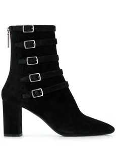 Saint Laurent Lou buckle detail ankle boots