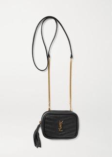 Saint Laurent Lou Baby Quilted Textured-leather Shoulder Bag