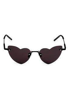 Saint Laurent Lou Lou 50MM Heart-Shaped Sunglasses