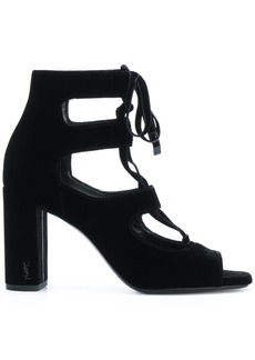 Saint Laurent Loulou 95 lace-up sandals