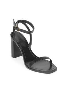 Saint Laurent Loulou Ankle-Strap Leather Sandals