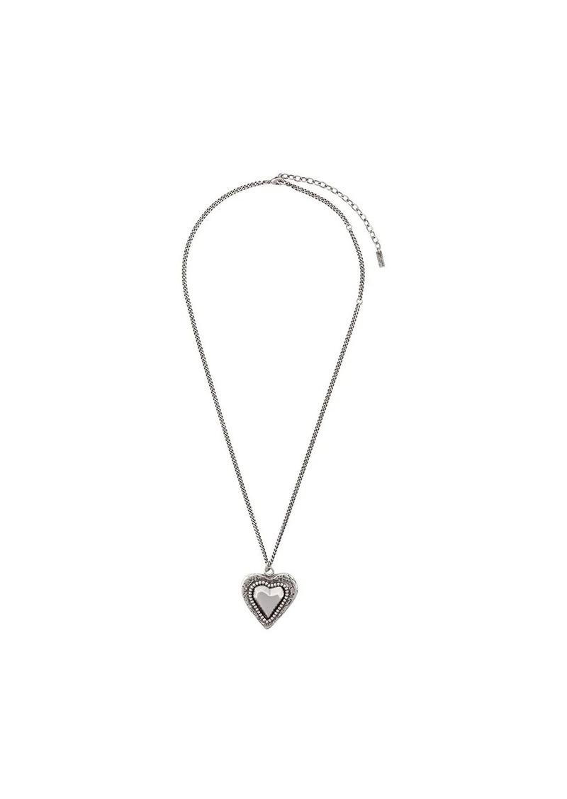Saint Laurent love oversized pendant necklace