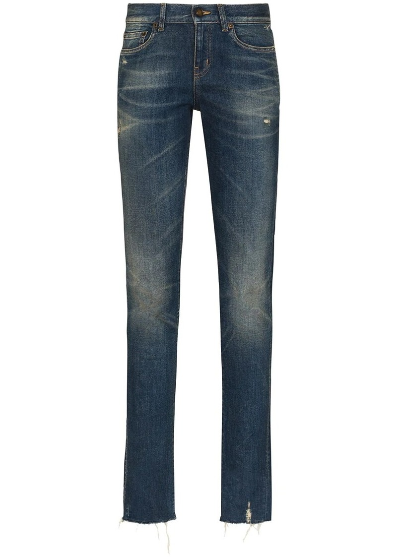 Saint Laurent low rise straight-leg jeans