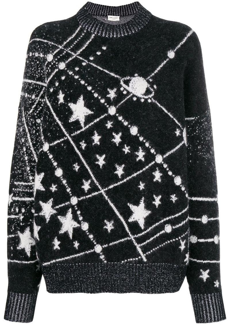 Saint Laurent lurex constellation sweater
