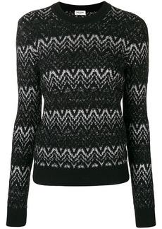 Saint Laurent lurex intarsia sweater