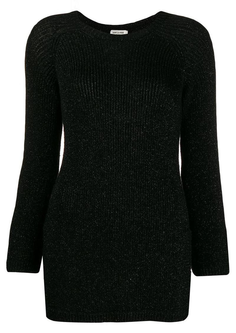 Saint Laurent lurex knit sweater