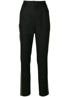 Saint Laurent lurex trim trousers