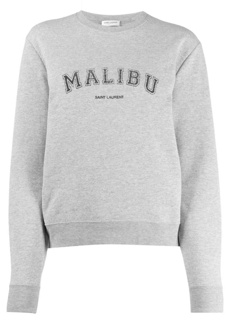Saint Laurent Malibu crew neck sweatshirt