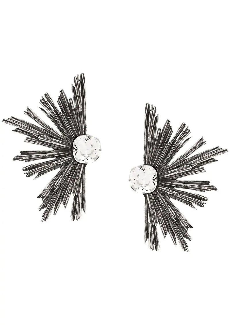 Saint Laurent metal rhinestone earrings