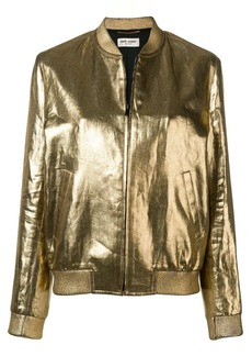 Saint Laurent metallic bomber jacket