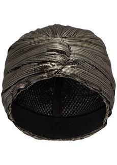 Saint Laurent metallic-effect turban hat