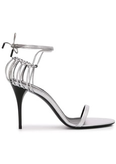 Saint Laurent metallic Lexi 100mm sandals