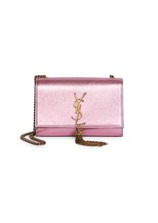 Saint Laurent Small Kate Tassel Metallic Leather Shoulder Bag