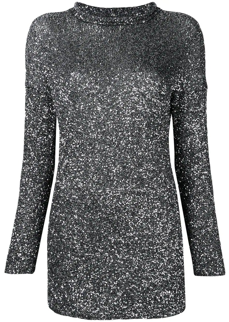 Saint Laurent metallic mini dress