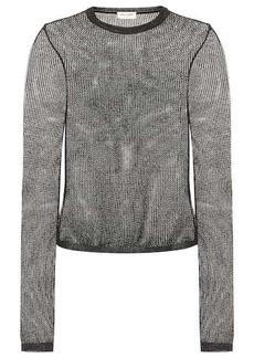 Saint Laurent Metallic open-knit top