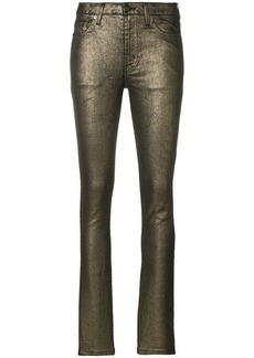 Saint Laurent metallic skinny trousers