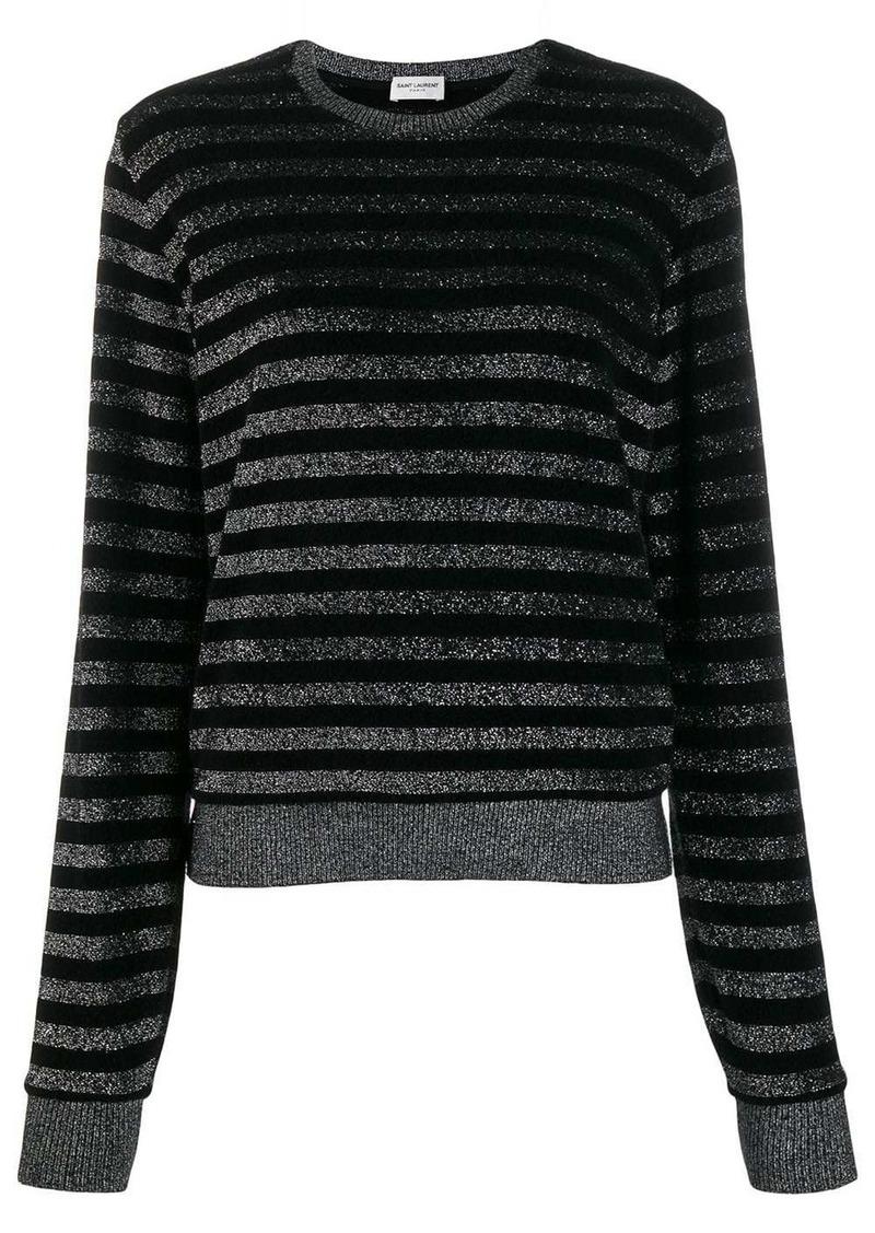 Saint Laurent metallic stripe jumper