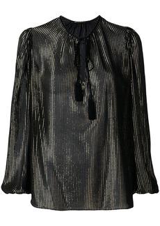 Saint Laurent metallic striped blouse