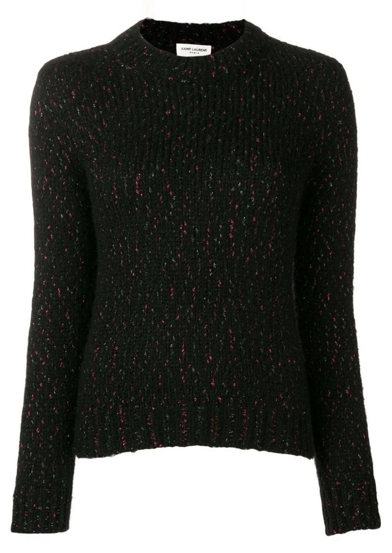 Saint Laurent metallic threaded jumper