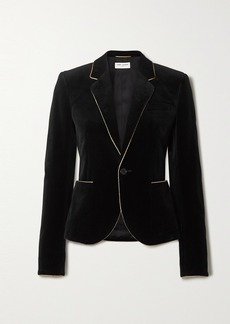 Saint Laurent Metallic-trimmed Velvet Blazer