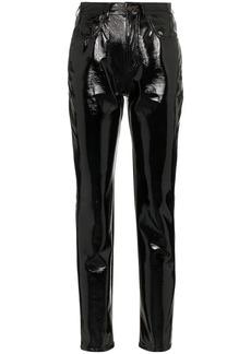 Saint Laurent mid-rise slim fit vinyl trousers