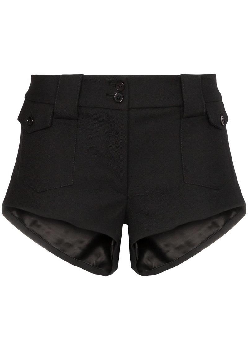 Saint Laurent mid-rise mini shorts
