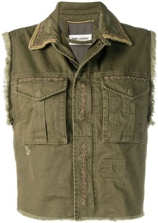 Saint Laurent military gilet