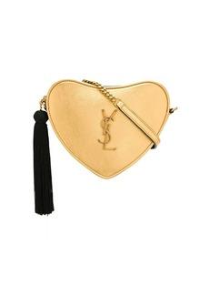 Saint Laurent monogram heart metallic cross body bag
