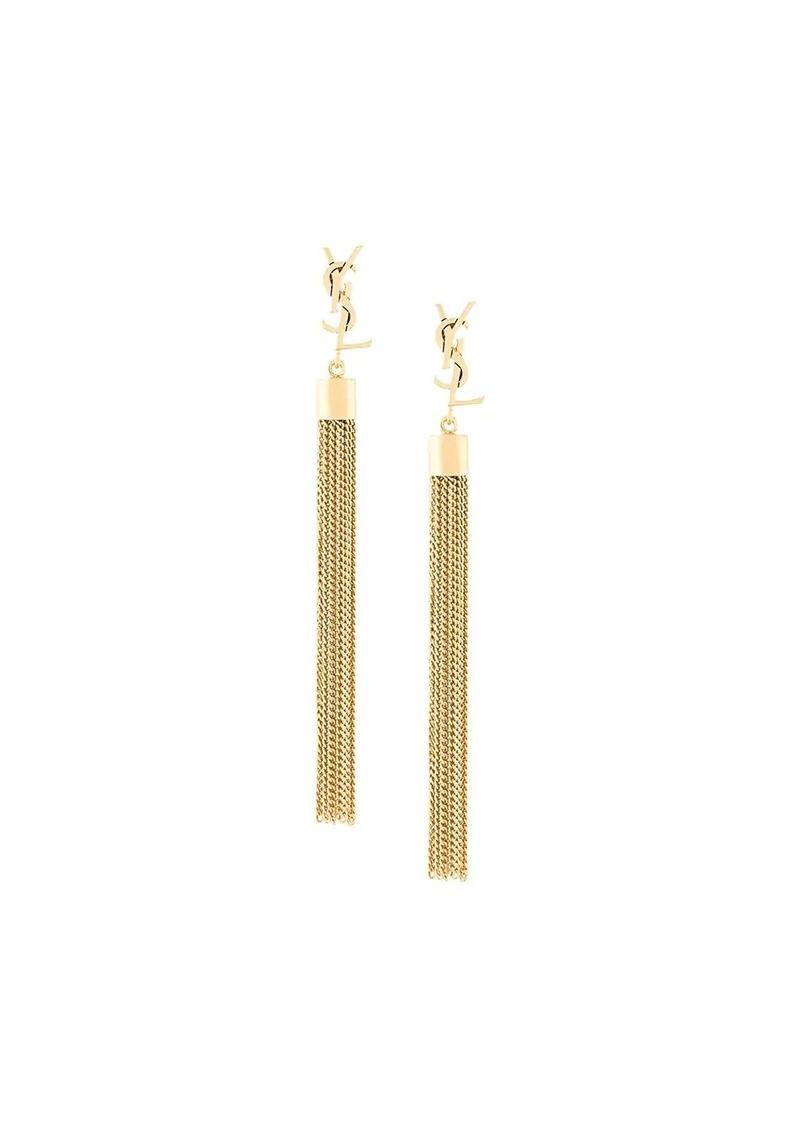 Saint Laurent Monogram mini tassel earrings