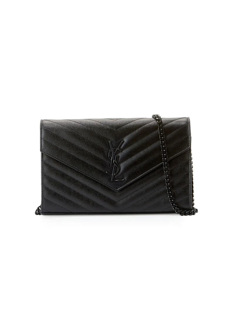 05ff00eef1f Saint Laurent Monogram YSL Matelassé Leather Wallet-on-Chain   Handbags