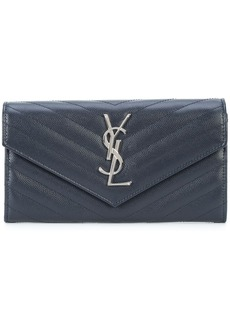 Saint Laurent large Monogram flap wallet