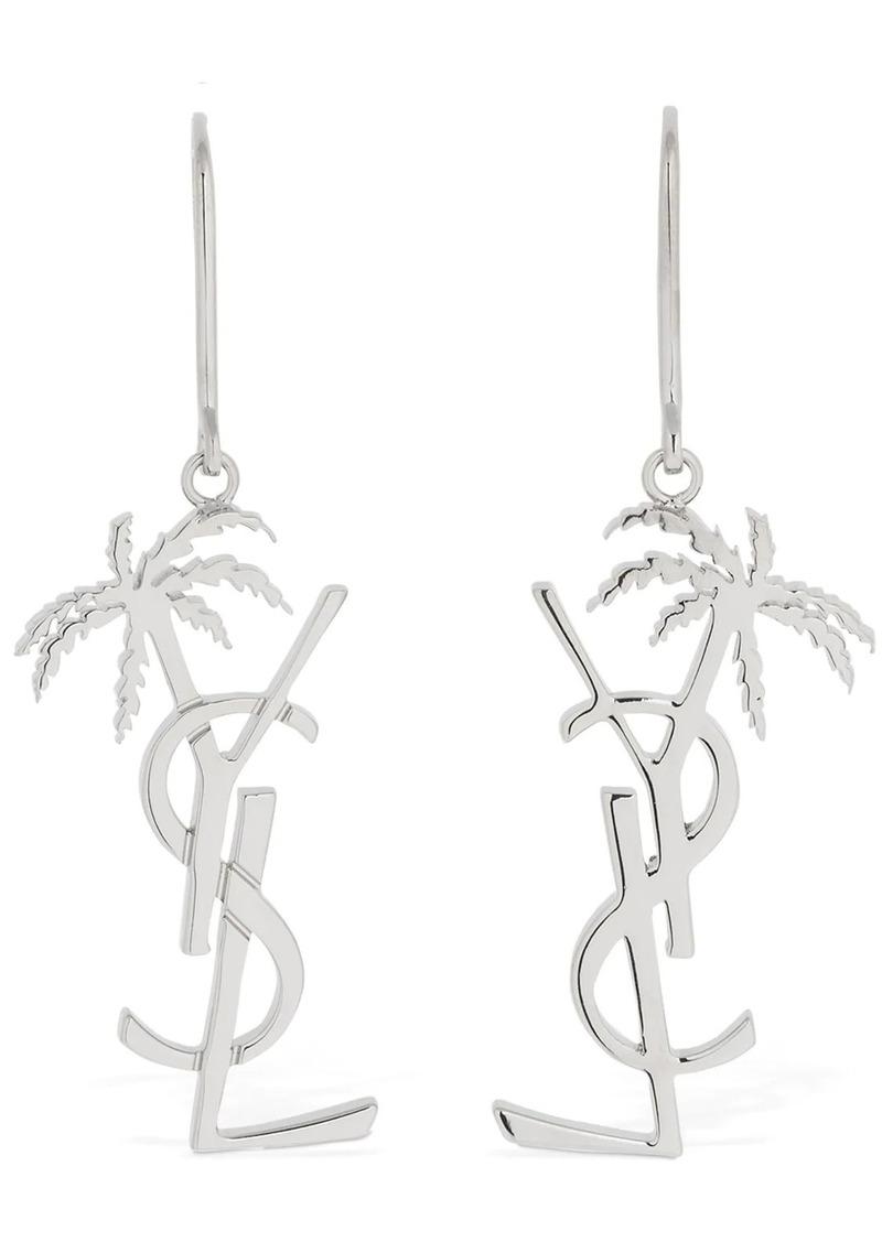 Saint Laurent Monogramme Palmier Earrings