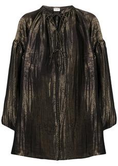 Saint Laurent neck-tied flared blouse