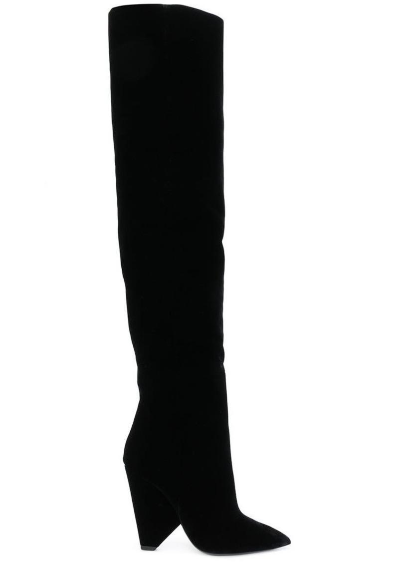 10e7479a0e92c Saint Laurent Niki 105 thigh-high boots