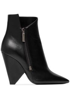 Saint Laurent Niki 105 zipped leather ankle boots
