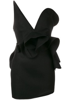 Saint Laurent off-the-shoulder asymmetric dress