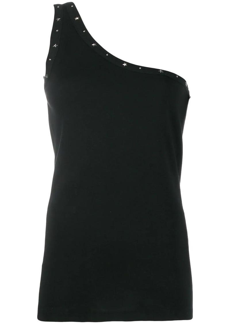 Saint Laurent one shoulder studded top