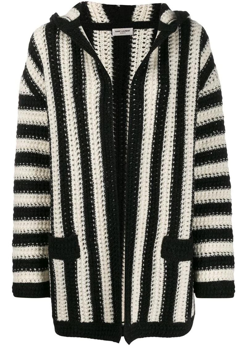 Saint Laurent open front striped cardigan