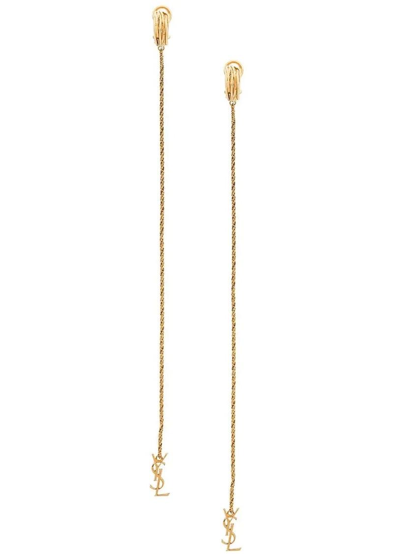 Saint Laurent Opyum monogram earrings