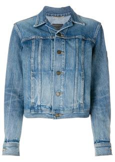 Saint Laurent original YSL military patch jean jacket