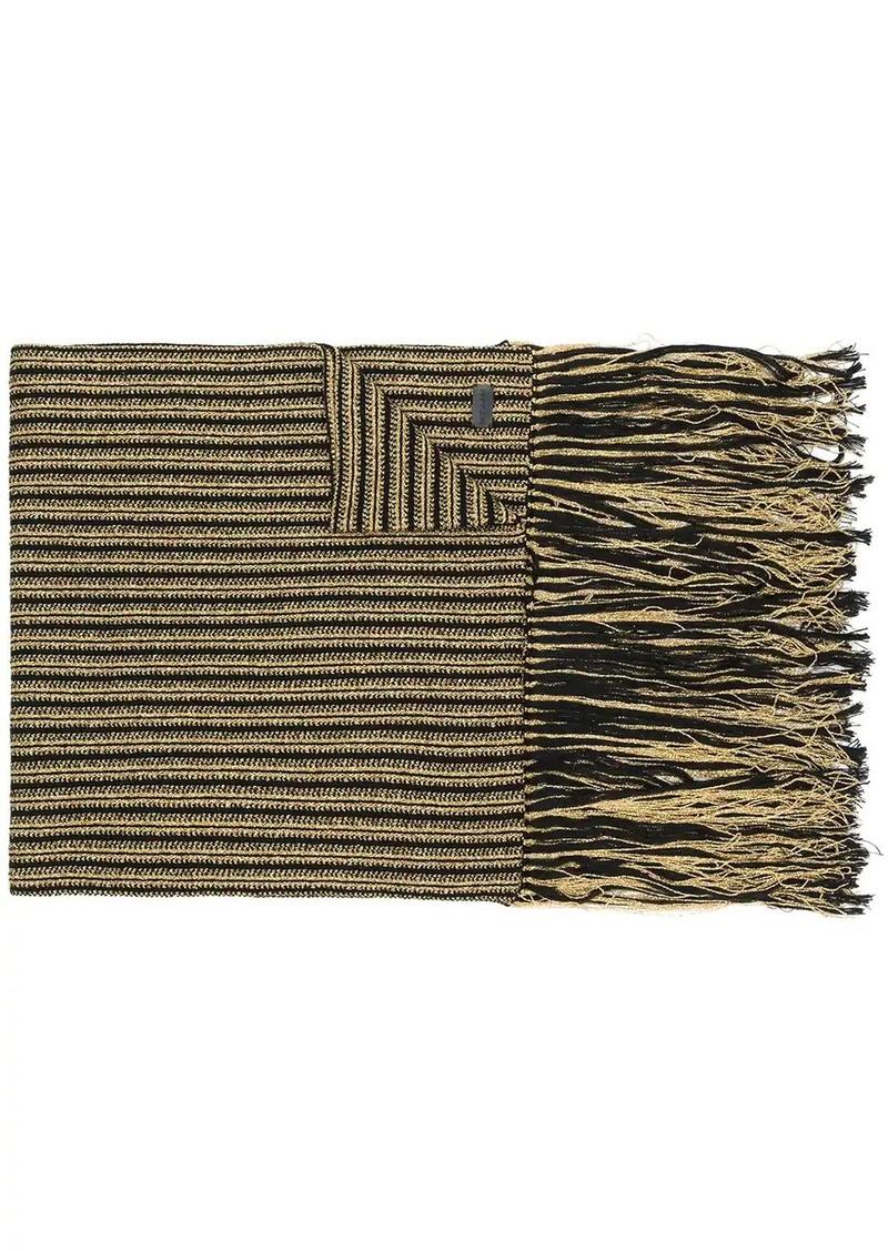 Saint Laurent oversize fringed scarf