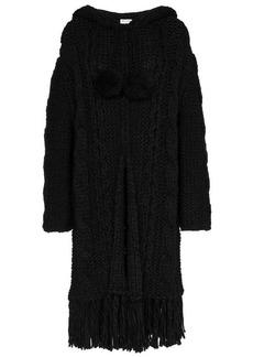 Saint Laurent cable knit cardigan coat