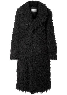 Saint Laurent Oversized Double-breasted Faux Shearling Coat