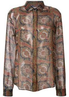 Saint Laurent paisley embroidered shirt