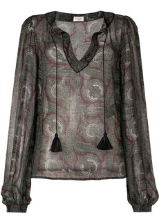 Saint Laurent paisley print blouse